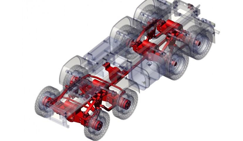Getriebe und Fahrwerk - 8x8 (SERVO)