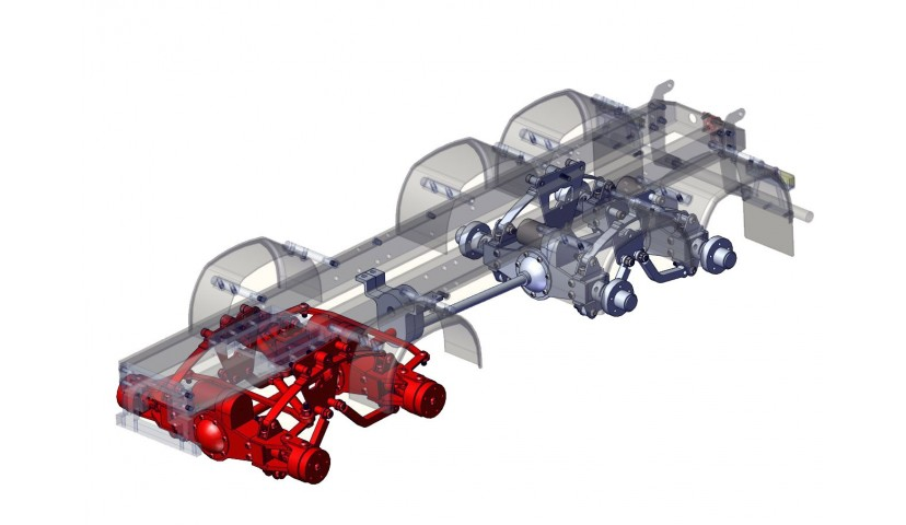 Vordere Doppelachse - 8x8 (SERVO)