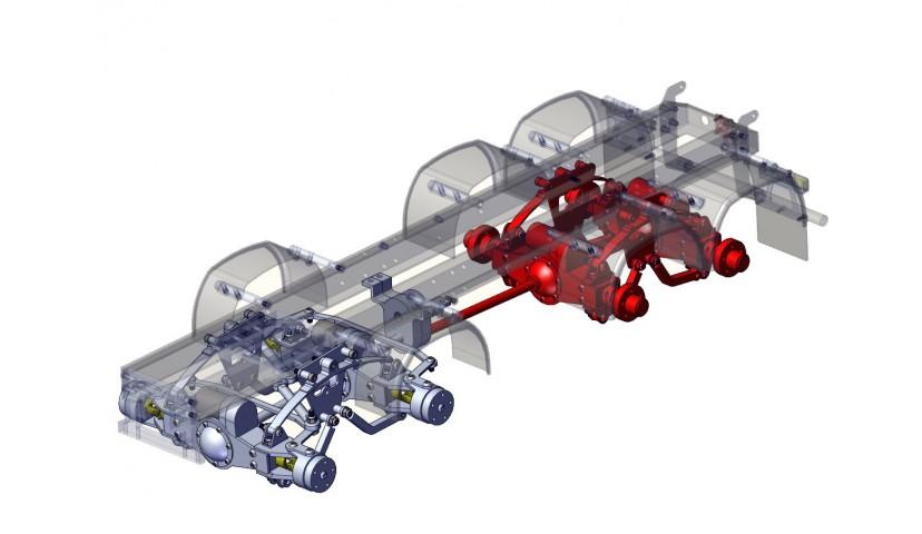Rear double axle - SERVO