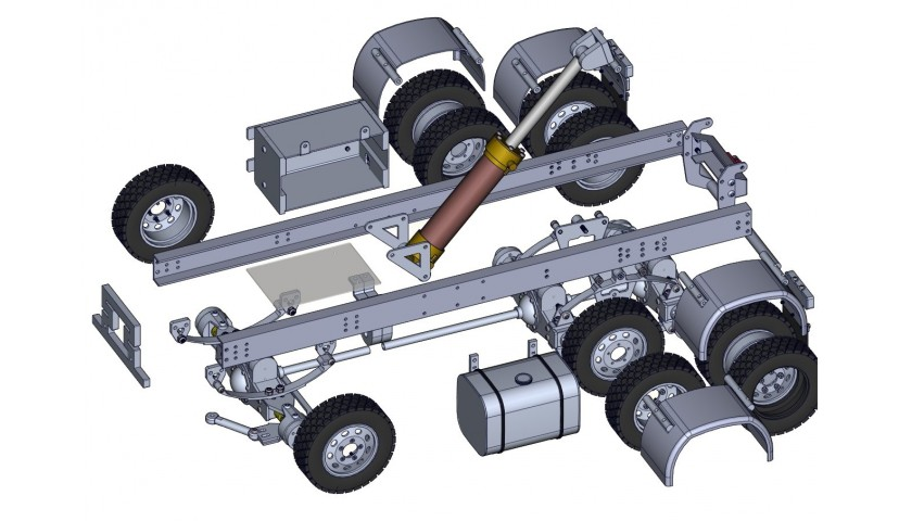 6x6 LKW - Servo angetrieben