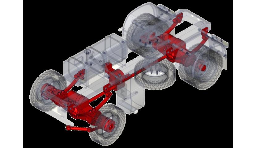 Transmission and suspension - 4x4 (SERVO)