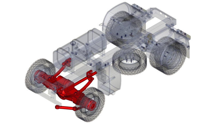 Front single axle 4x4 (SERVO)
