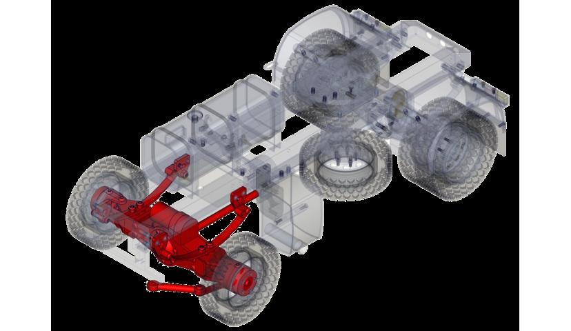 Front single axle