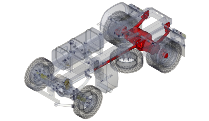 Asse posteriore semplice 4x4 (SERVO)