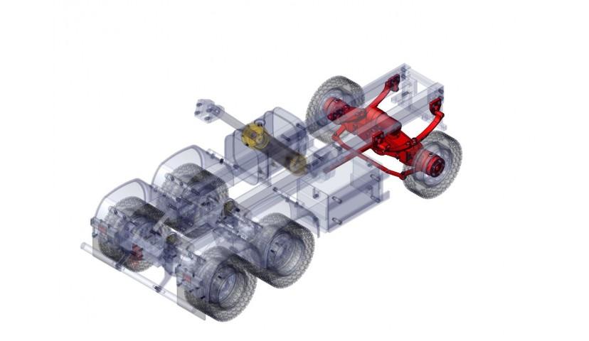Front single axle - 6x6 (SERVO)