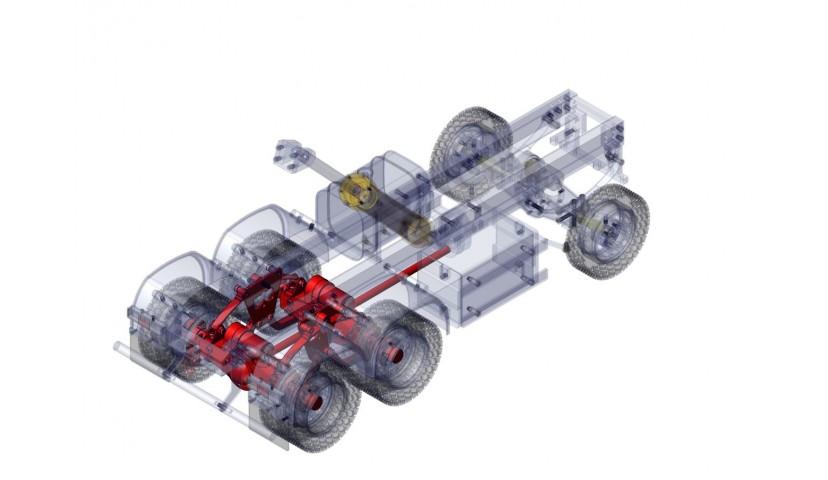Rear double axle