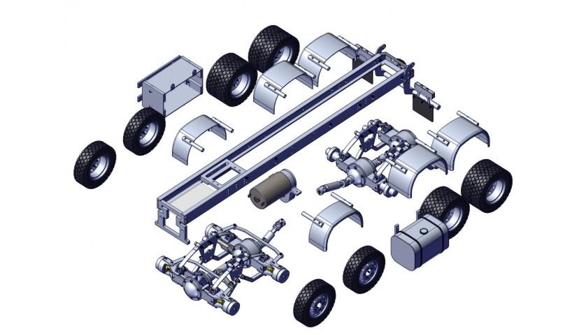 8x8 LKW - Welle angetrieben