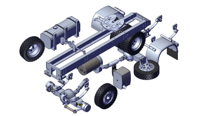 4x4 TRACTOR HEAD - shaft driven