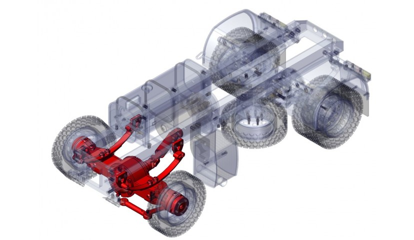Front differential - 4x4 (SD)