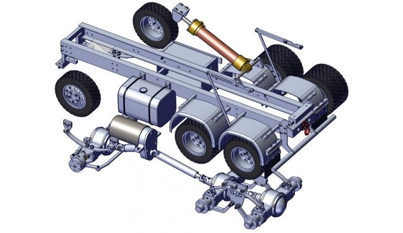 6x6 LKW - Welle angetrieben