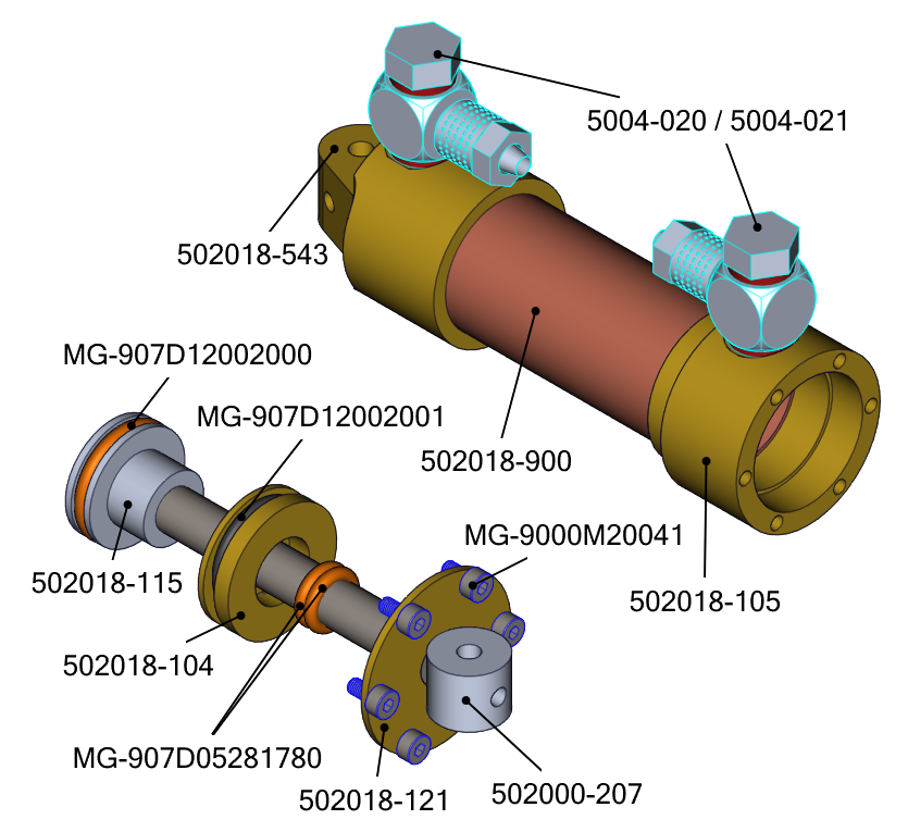 Breakdown of parts